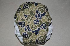 Skulls Camo One Size Pocket Diaper. $20.00, via Etsy.