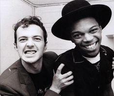 Joe Strummer of The Clash and Ranking Roger of The Beat in Rock and Roll Heaven Joe Strummer, The English Beat, Mick Jones, British Punk, Northern Soul, Brighton And Hove, The Day Will Come, The Clash, Concert Hall