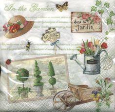 napkins,  Plants - ivy,  Flowers - tulips,  Everyday,  lunchnapkins