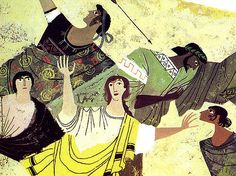 The Iliad and the Odyssey - detail   Illustrated by Alice an…   Flickr