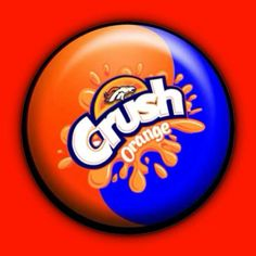 Orange Crush Button - Broncos