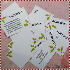 jak zrobić kalendarz adwentowy; co zapakować do kalendarza; DIY; cyferki do druku; Christmas Time, Christmas Cards, Xmas, Kids And Parenting, Advent, Diy, Projects, Handmade, Noel