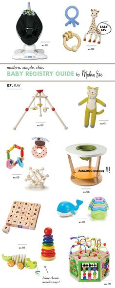 // Ultimate Baby Registry Gift Guide (7 of 8): Play by Modern Eve