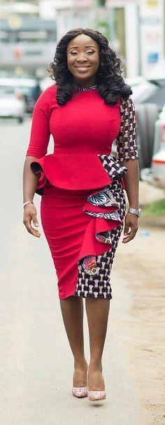 Naa Ashorkor in modern african fashion style, African fashion, Ankara. African Fashion Designers, African Fashion Ankara, Ghanaian Fashion, African Inspired Fashion, Latest African Fashion Dresses, African Dresses For Women, African Print Dresses, African Print Fashion, Africa Fashion