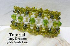 PDF Beading Tutorial Beaded Embellished Bracelet von mybeads4you