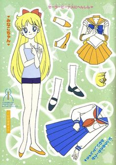 "sailor moon - mary marie - Picasa Webalbum* 1500 free paper dolls at artist Arielle Gabriel""s The International Paper Doll Society also free China paper dolls The China Adventures of Arielle Gabriel *"