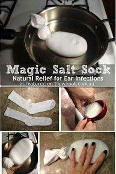 Magic Salt Sock - for ear infection or other areas that need relief.