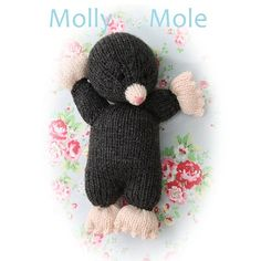 Molly mole PDF email toy  knitting pattern