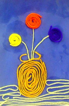 http://www.dickblick.com/multicultural/huichol/ I adapted the Dick Blick Huichol Yarn Painting lesson by using elmer's glue and paper ins...