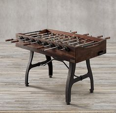 Man Cave Game Room - Vintage Industrial Foosball Table by Restoration Hardware Vintage Industrial Furniture, Industrial Table, Industrial Man Cave Ideas, Industrial Office, Welding Table, Table Games, Game Tables, Home Hardware, Entertainment Room