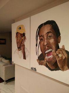 Image about art in A R T by miya ! on We Heart It Black Art Painting, Black Artwork, Art Hoe, Afro Art, Black Women Art, Black Girls, Dope Art, Diy Canvas Art, Urban Art