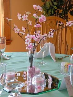 70 Awesome Wedding Ideas Youve Never Seen Before Quinceanera Centerpieces, Quinceanera Party, Wedding Centerpieces, Wedding Decorations, Wedding Ideas, Cherry Blossom Centerpiece, Cherry Blossom Party, Cherry Blossoms, Cherry Blossom Bouquet