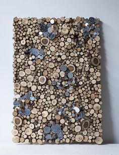 Wood Art Man I want to try to re-create something similar. than you Lee Borthwick Into The Woods, Wooden Wall Art, Wooden Walls, Wall Wood, Diy Wanddekorationen, Wood Mosaic, Wood Slices, Home And Deco, Textures Patterns