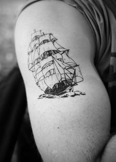 vintage ship temporary tattoo by Pepperink on Etsy- on my other side