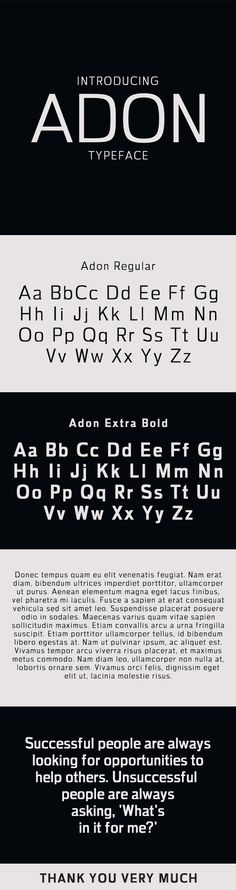 Adon Sans Serif Typeface — TrueType TTF #simple font #beautiful font • Available here → https://graphicriver.net/item/adon-sans-serif-typeface/19821927?ref=pxcr