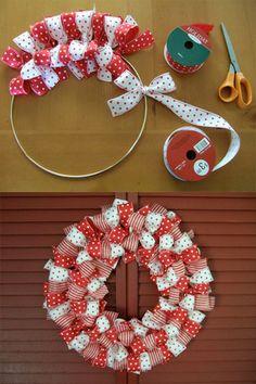 lazos hacer decoracion navidea navidad decoracion adornos navidad creatividad adornos navideos coronas navideas flores