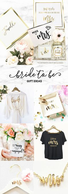 Bride Gift Ideas | Engagement Gift for the Bride to Be | Future Mrs Gift Ideas