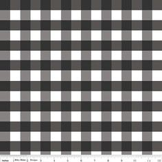 Large Black Gingham from Riley Blake Fabrics  on by hootcouture