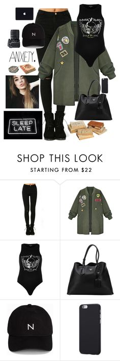 """""""Closed between books. Library. Quiet. Only me and music and my thoughts. Perfect"""" by youngsmile on Polyvore featuring WithChic, River Island, Prada, New Black, Masquerade and Nikon"""