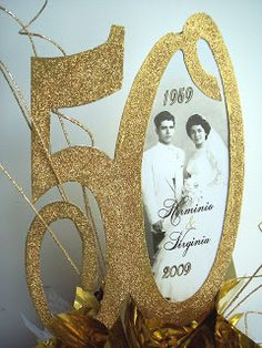 Designs by Ginny: Anniversary Centerpiece - anniversary decorations - Spousal 50th Wedding Anniversary Decorations, 60th Anniversary Parties, Golden Wedding Anniversary, Anniversary Ideas, Second Anniversary, Ruby Anniversary, Wedding Decorations, 25th Birthday, Sister Birthday