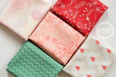 Happy Home Fat Quarter Bundle, 5 Pieces, Caroline Hulse, Art Gallery Fabrics, 100% Cotton Fabric, HAH