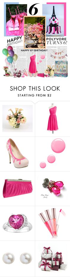 """""""Happy 6th Birthday!"""" by malinda108 ❤ liked on Polyvore featuring Distinctive Designs, J.Crew, Fiebiger, Topshop, Claudia Canova, Etude House, Alex Monroe and Michel Germain"""