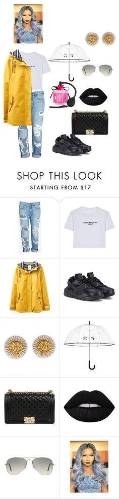 """""""🌂👓"""" by qveennnnnn ❤ liked on Polyvore featuring rag & bone/JEAN, WithChic, Joules, NIKE, Chanel, Kate Spade, Lime Crime, Ray-Ban and Victoria's Secret"""