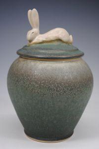 """Hare Pot"" by Carolyn Dilcher Stutz Pottery Pots, Thrown Pottery, Ceramic Pottery, Wedding Vases, Rabbit Art, Pottery Techniques, Bunny Art, Pottery Classes, Pottery Designs"