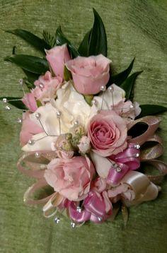 Rose & gardenia pin-on corsage, September 2015