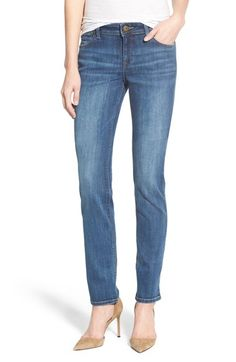 'Coco' Curvy Straight Leg Jeans (Drift) available at Denim Drift, Curvy, How To Wear, Clothes, Nordstrom Rack, Blue Jeans, Women, Style, Zipper