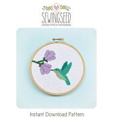 Hummingbird Cross Stitch Pattern Instant Download