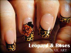 Leopard & Roses by Pinkflyingcow #nail #nails #nailart