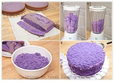 Ube Macapuno Cake, Purple Yam Cake, Cake Recipes, Filipino Recipes, Pinoy Recipes, Pinay in Texas