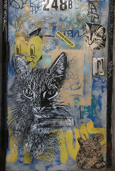 Street Art, Cat heaven, C215, NYC
