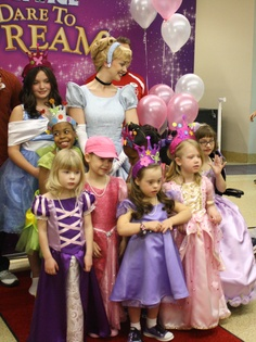 These dresses could be great flower girl dresses in a Disney themed wedding. Had such a great time watching the girls become Disney princesses today -- here they are with fellow princess, Cinderella! Thanks to Disney On Ice, Make-A-Wish Foundation of America, and Virginia Marti College!