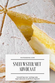 Hoe maak je zelf thuis een Sneeuwster (met slagroom en advocaat) Sweets Cake, Cupcake Cakes, Yogurt Cake, Dessert Recipes, Desserts, Whipped Cream, Cornbread, Sweet Recipes, Biscuits