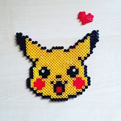 Pikachu perler beads by pokesaphir