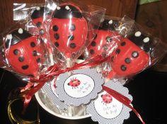 Ladybug Lollipops