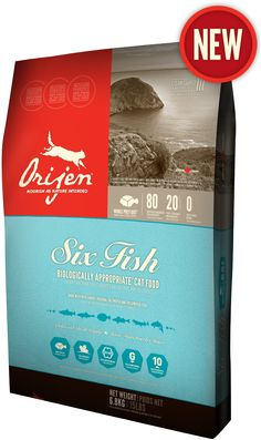 Inspired by the rich diversity of fish indigenous to our local waters, ORIJEN 6 Fish features unmatched inclusions of saltwater and freshwater fish - caught wild within our region and whisked to our kitchens as fresh and cold as the waters they came from.