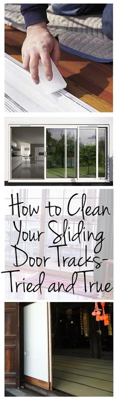 Cleaning, clean your sliding door tracks, cleaning hacks, cleaning tips, clean home, popular pin, DIY clean.