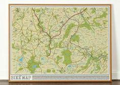 Bike Map - Original Open Edition