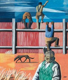 Peter Clarke | The Fence - South African Artists | Painting