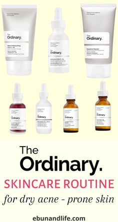 Do you have dry skin? Do you also suffer from acne every now and then? You will learn about the best way to layer products using The Ordinary Skincare Routine for Dry Acne Prone Skin. #theordinaryskincare #dryskinproducts #dryskincareroutine #acneremedies #acneproducts #howtogetridofacneovernight #howtogetridofacne #beautyhacksforskin #skincareroutineforacne #skincareforteens