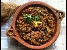 Eggplant Salad Zalook Moroccan Cuisine (سلطة البادنجال زعلوك المطبخ المغربي ( مترجم للعربى - YouTube