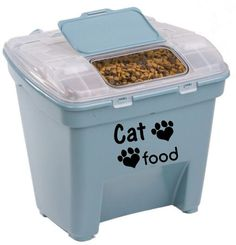 Cat Food Decal by DesignsByLaurieann on Etsy  sc 1 st  Pinterest & Suncast 72 Quart Food Storage Bin @ Walmart. $12.98 Want 2 of these ...