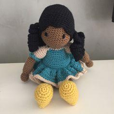 Boneca moreninha #crochet #amigurumi #doll #boneca