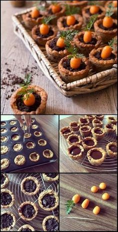 Carrot cookies pot - recettes de Pâques : cookies en forme de pot, garnis de ganache au chocolat, oreo et d'une carotte en pâte d'amandes / www.odelices.com