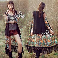 Sevy South Africa Bohemian Embroidered Long Jacket Cardigan Chiffon+Mesh (ผ้าชีฟองพริ้วสวยเสริมปลายด้วยผ้าตาข่ายอย่างดี ปักขึ้นลายนูนด้วยไหมเกาหลีพิเศษ อย่างดี)เสื้อคลุมตัวยาว ดีเทลทอลายดอกปักด้ายขึ้นลายนูน เส้นสีคม ปักแน่น งานสไตล์สาวโบฮิเมี่ยน สามารถใส่คลุมชุดลำลองของคุณสาวๆได้ดีเลยค่ะ   สนใจ ติดต่อ :  Facebook   : www.facebook.com/adsdress  Line            : @adsdress Instagram   : @adsdress Tel.              : 0986967889 E-mail         : adsdress@hotmail.com