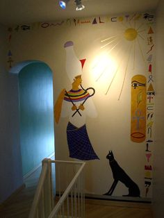 Wall Mural- Osiris- Acrylic paint