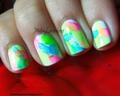 Color Me Rad sponge nail art